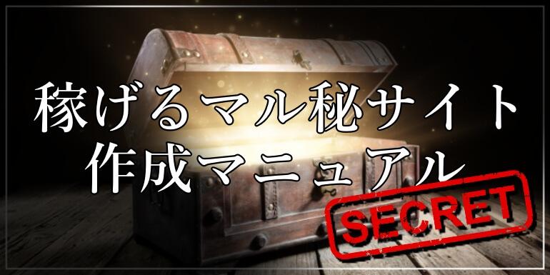 稼げるマル秘サイト作成マニュアル