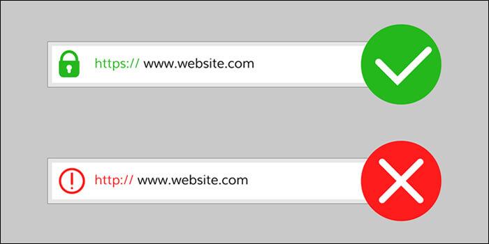 SSL化しているサイトとSSL化されていないサイト